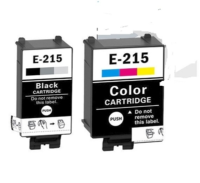 2 Pack Epson T215120 Black and T215530 Tri-Color WorkForce WF-100 Compatible Ink Cartridges