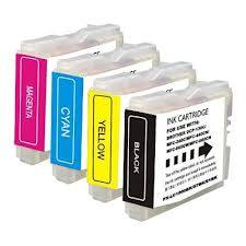 4 Pack Brother LC51 Intellifax 1360, 1860C, 1960C, 2480C Inkjet Cartridges