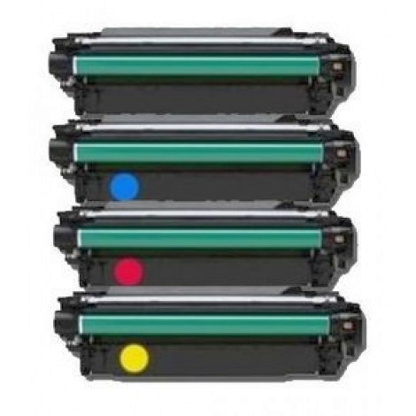 4 Pack HP 651A LaserJet Enterprise 700 Color MFP M775, M775Z Plus Laser Toner Cartridges