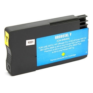 HP 951XL CN048AN Yellow Compatible High Yield Inkjet Cartridge OfficeJet Pro 8600 Plus 8600 Premium 8600A  8610  8615 8620  8625  8630