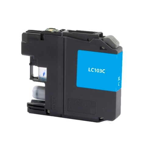 Brother LC103 LC103C LC101C Cyan Remanufactured High Yield Ink Cartridge DCP-J152W