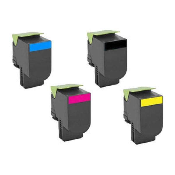 4 Pack Lexmark 701XK CS510 Compatible Extra High Yield Compatible Toner Cartridges