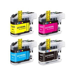 4 Pack Brother LC103 LC103XL  High Yield Ink Cartridges