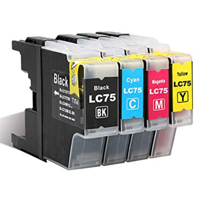 4 Pack Brother LC75/LC71 MFC-J280W - MFC-J835DW High Yield Inkjet Cartridges
