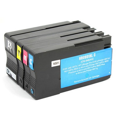 HP 950XL / HP 951XL 4 Pack Black Cyan Magenta Yellow Ink Cartridge OfficeJet Pro   8600 Plus -  8600 Premium - 8600A  8610  8615 8620  8625  8630